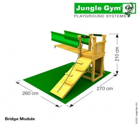 Игровой комплекс Jungle Cottage+Bridge Module